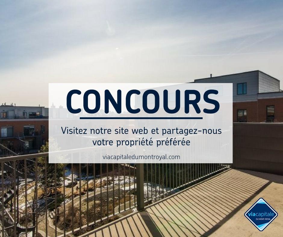 Règlement concours mensuel de Via Capitale du Mont-Royal