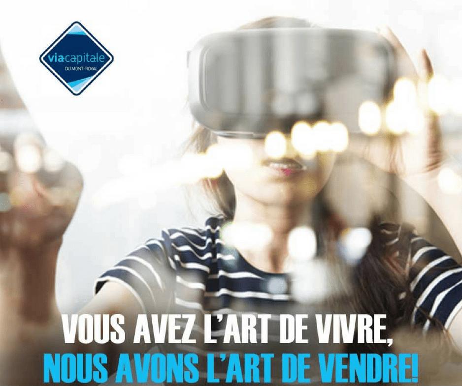 La réalité virtuelle arrive chez Via Capitale du Mont-Royal!