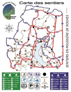 Image de la carte des sentiers du Parc régional de St-Bernard de Lacolle
