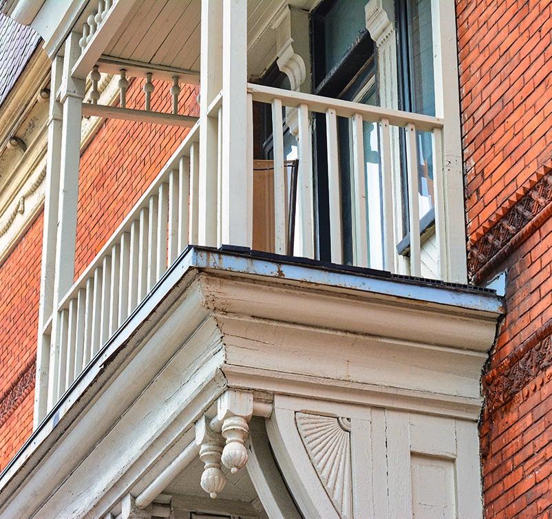 Balcon d'un logement à Montréal